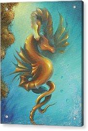 Seahorses In Love II  Acrylic Print