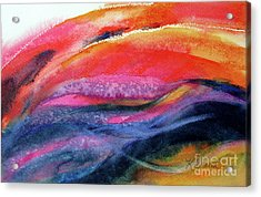 Acrylic Print featuring the painting Seams Of Color by Kathy Braud