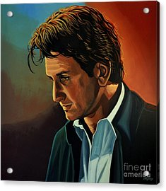 Sean Penn Acrylic Print by Paul Meijering