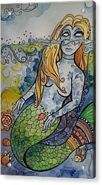 Searching Acrylic Print by Claudia Cole Meek