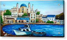 Searching For Santos Acrylic Print by Therese Alcorn
