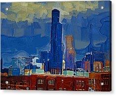 Sears Tower Acrylic Print by Brad Hutchings