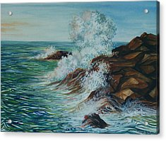 Seascape 1 Acrylic Print by Arnold Hurley
