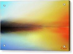 Seascape Acrylic Print by Ahmed Darwish