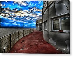 Seascape Atmosphere - Atmosfera Di Mare Dig Paint Version Acrylic Print