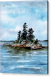 Seascape Casco Bay Maine Acrylic Print