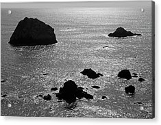 Acrylic Print featuring the photograph Seascape Jenner California II Bw by David Gordon