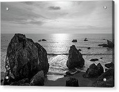 Seascape Jenner California IIi Bw Acrylic Print