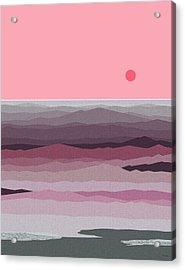 Seascape Pinks Acrylic Print
