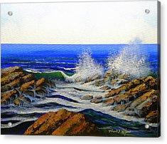 Seascape Study 4 Acrylic Print by Frank Wilson