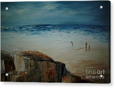 Seashore Acrylic Print by Vivian  Mosley