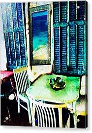 Seaside Cafe Acrylic Print