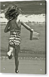 Seaside Excitement Acrylic Print by JAMART Photography