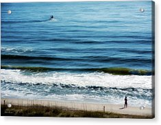 Seaside Fisherman Acrylic Print by Glenn Gemmell