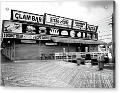 Seaside Heights Boardwalk Dining Acrylic Print