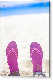 Seaside Holiday Concept With Copyspace Acrylic Print