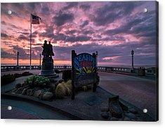 Seaside Oregon Sunset Acrylic Print