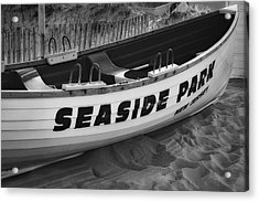 Seaside Park New Jersey Bw Acrylic Print by Susan Candelario