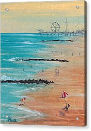 Seaside Acrylic Print by Pete Maier
