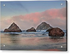 Seaside Reflections Acrylic Print by Andrew Soundarajan