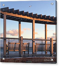 Seaside Seating  Acrylic Print