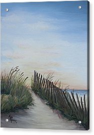Seaside Sunrise Acrylic Print by Mary Rogers