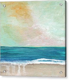 Seaside Sunset- Expressionist Landscape Acrylic Print by Linda Woods