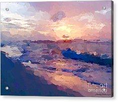 Seaside Swirl Acrylic Print by Anthony Fishburne