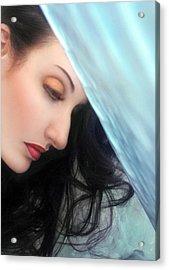 Season Of Sadness - Self Portrait Acrylic Print by Jaeda DeWalt