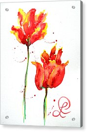 Season's First Tulips Acrylic Print by Lynda Cookson