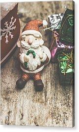 Seasons Greeting Santa Acrylic Print