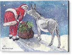 Season's Greetings Acrylic Print by Dawn Senior-Trask