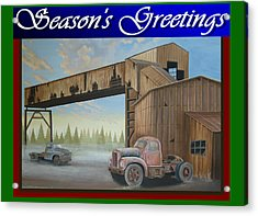 Acrylic Print featuring the painting Season's Greetings Old Mine by Stuart Swartz