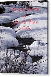Seasons Of Joy And Peace Acrylic Print