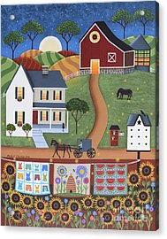 Seasons Of Rural Life - Summer Acrylic Print by Mary Charles