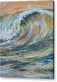 Seaspray Gold Acrylic Print