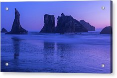 Seastack Sunset In Bandon Acrylic Print