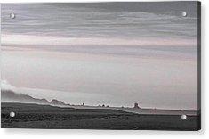 Seastacks In Fog Acrylic Print