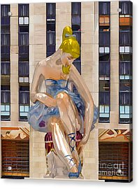Seated Ballerina At Rockefeller Center 3 Acrylic Print