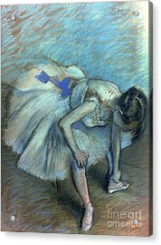 Seated Dancer Acrylic Print by Edgar Degas