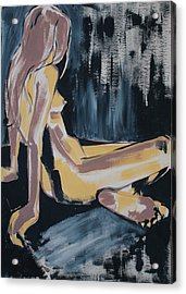 Seated Female Nude Acrylic Print