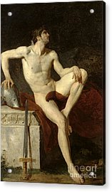 Seated Gladiator Acrylic Print by Jean Germain Drouais
