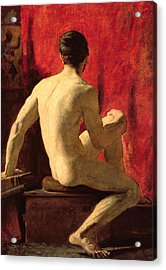 Seated Male Model Acrylic Print