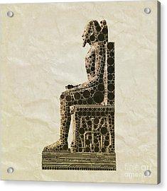 Seated Pharaoh By Mb Acrylic Print