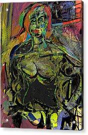 Seated Woman Acrylic Print by Noredin Morgan