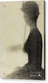 Seated Woman With A Parasol  Acrylic Print by Georges Pierre Seurat