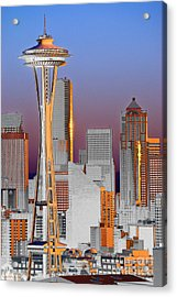 Seattle Architecture Acrylic Print by Larry Keahey
