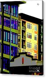 Acrylic Print featuring the photograph Seattle Architecture by Yulia Kazansky