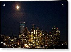 Seattle At Night Acrylic Print by James Johnstone
