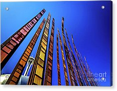 Seattle Center Art Grass Blades Acrylic Print by Joan McCool